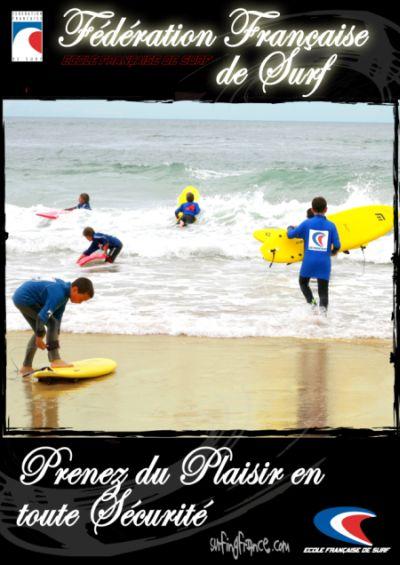 Ecoles labellisées par la Fédération Française de Surf.