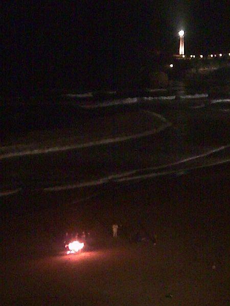 Le feu à la Grande Plage de Biarritz
