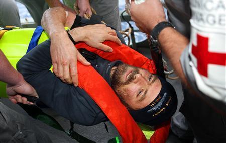 Sauvetage en mer du skippeur Yann Eliès