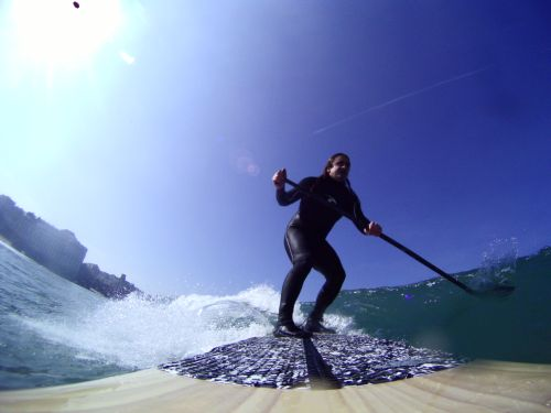 Guillaume Barucq en action sur son SUP  Photo GoPro  Copyright www.surf-prevention.com