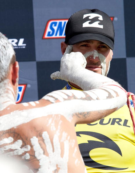 Joel Parkinson winner of the Bells Beach Rip Curl Pro 2009. Photo by Kelly Cestari/ASP/CI via Getty Images