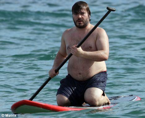 Jack Black se met au kneeboard paddle !