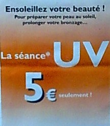 Dangers du bronzage artificiel en cabines à UV