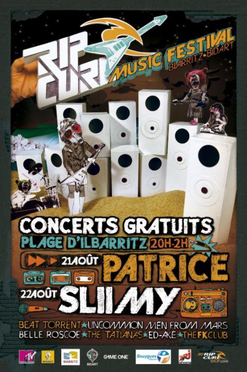 PATRICE et SLIIMY au Rip Curl Music Festival de Biarritz