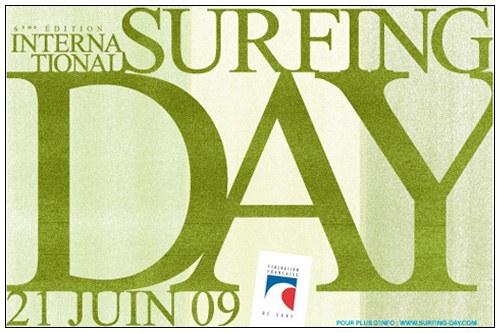 Affiche du Surfing Day 2009 (anciennement appelée Fête du Surf)