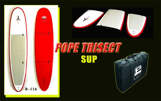 SUP TRISECT : Stand-up paddle démontable pour le surf trip…