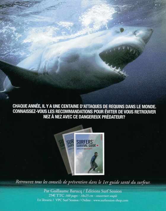 Surfers Survival Guide  prevention des attaques de requins chez le surfeur ( shark attack on surfers prevention)