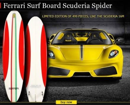 Ferrari : la Scuderia se met au surf !