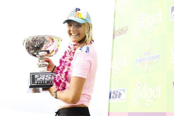 Stephanie Gilmore Championne du Monde de Surf 2009. Photo Rip Curl