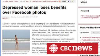 Facebook : une femme en arrêt-maladie vue à la plage…