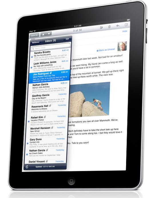 Le iPad de chez Apple avec son ecran tactile derniere nouveaute pour surfer sur Internet