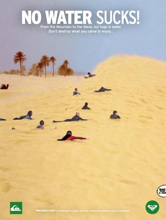 Populaire Environnement : campagne Quiksilver pour la protection de l'eau  IY73