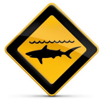 Panneau attention danger risques attaques de requins iStockphoto pour Surf Prevention