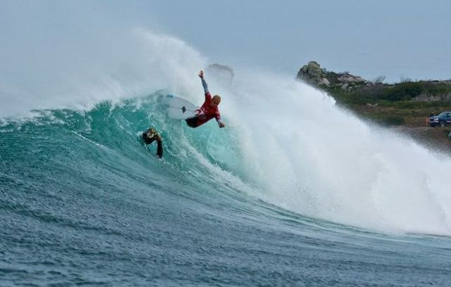 Le surfer Stuart Kennedy en Tasmanie - Photo O'Neill