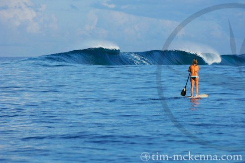 Lisa Andersen Stand Up Paddle Surf - Copyright Tim Mac Kenna
