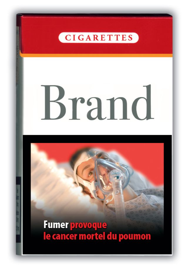 """""""Fumer provoque le cancer mortel du poumon"""" - image choc de la commission europeenne sur paquets de cigarettes"""