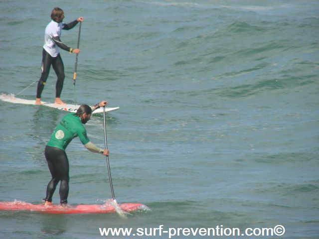 Peyo Lizarazu et Eric Terrien Stand Up Paddle SUP World Tour Anglet