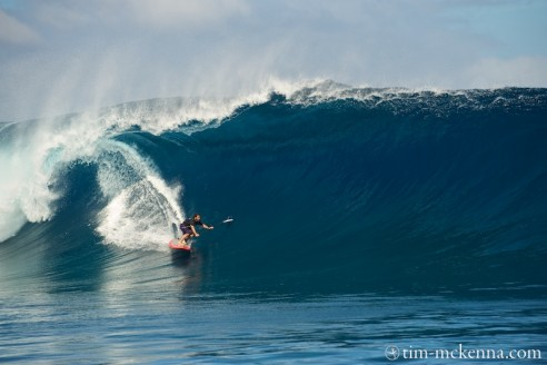 Peyo bottom turn frontside en SUP a Sapinus -Tahiti - Photo TMK