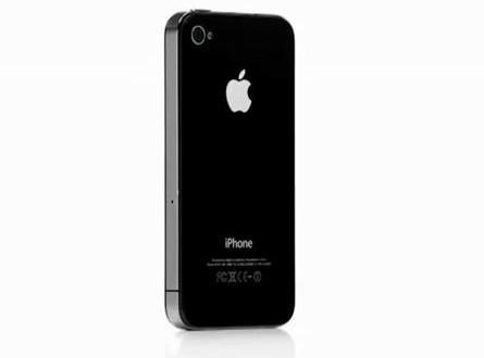 iphone 4 noir - design face posterieure