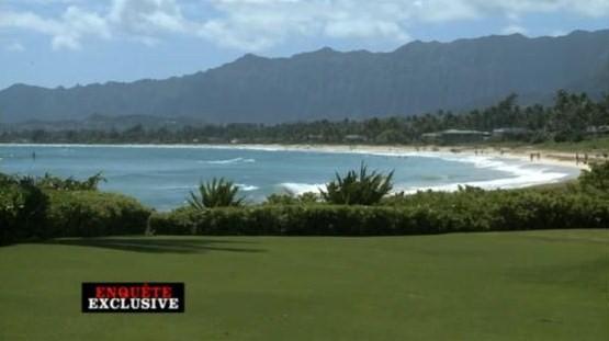 vue sur mer depuis la villa de Barack Obama a Hawaii - copyright Enquete Exclusive - M6
