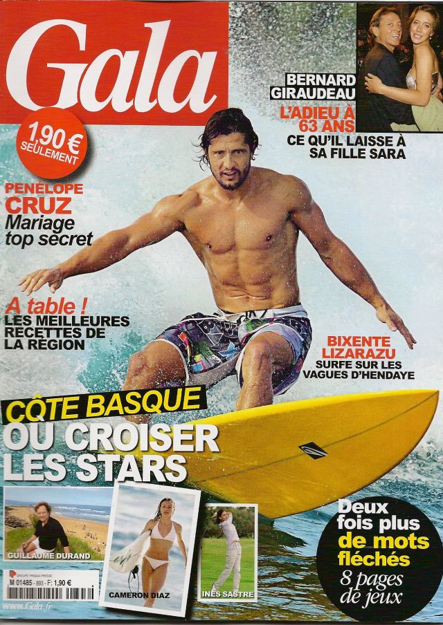 Surf People : Bixente Lizarazu en couverture de Gala !