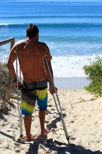Joel Parkinson utilise la Surf Thérapie pour sa Rééducation