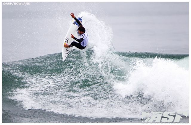 Dane Reynolds au top au Hurley Pro de Lower Trestles