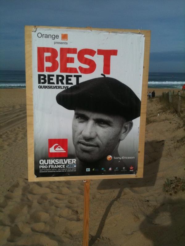 Kelly Slater Best Beret - Affiche de Kelly Slater avec un beret basque a Hossegor