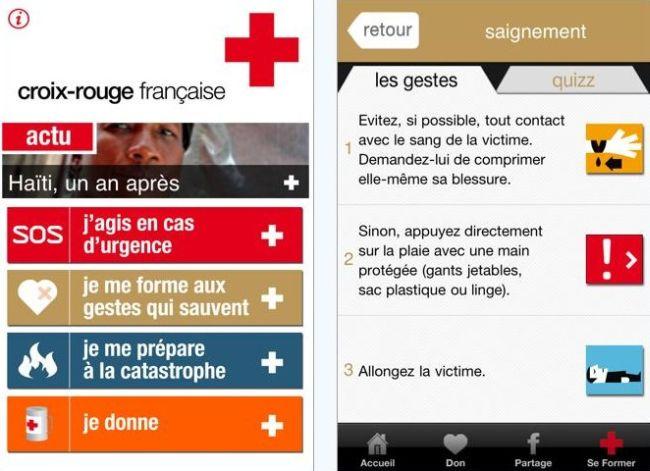 La Croix-Rouge lance une appli qui sauve sur iPhone !