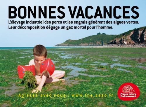 Censure des affiches «algues vertes» de France Nature Environnement