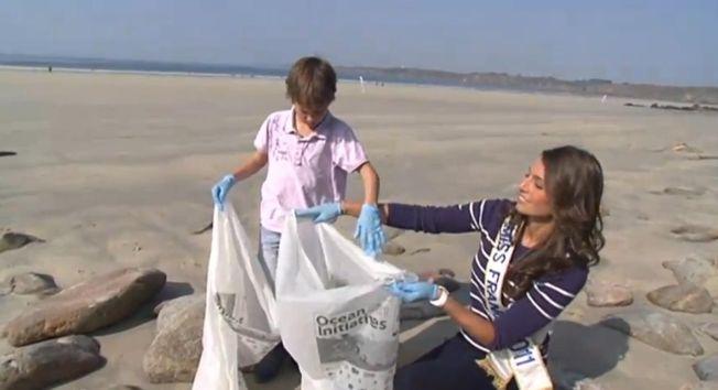 Laury Thilleman et Bixente Lizarazu participent aux Initiatives Océanes