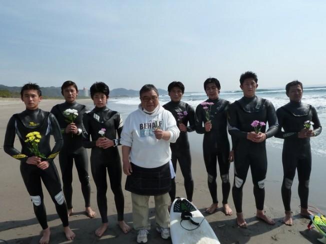 Hommage vidéo aux surfeurs de Fukushima