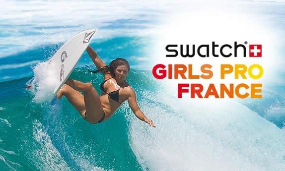 Les meilleures surfeuses se mettent à l'heure du Swatch Girls Pro
