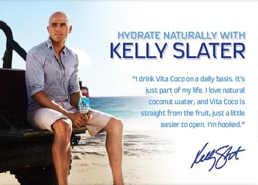 Hydratation : Kelly Slater carbure à l'eau de noix de coco !