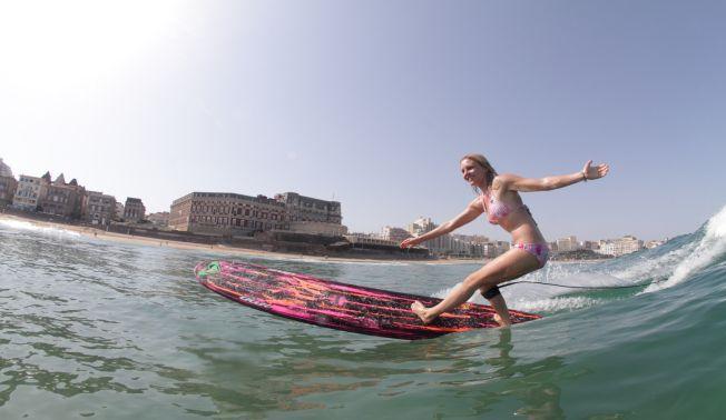 Roxy Pro Biarritz : Interview de la longboardeuse Coline Menard