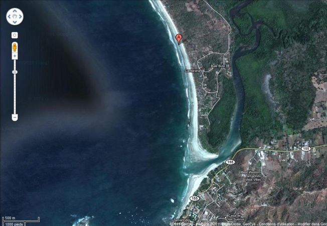 Attaque de requin sur surfeur à Playa Grande au Costa Rica