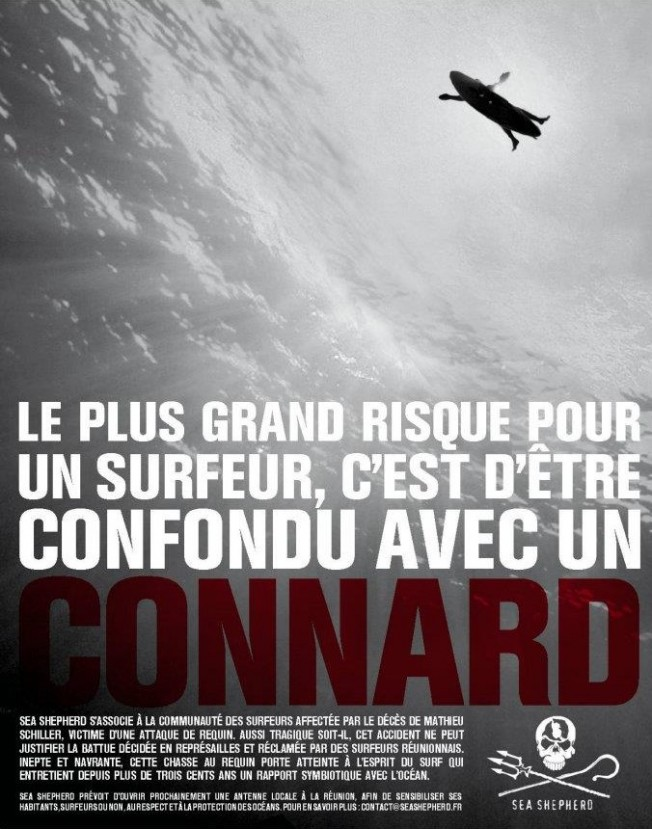 L'affiche de Sea Shepherd supprimée de la page Surf Prevention par Facebook