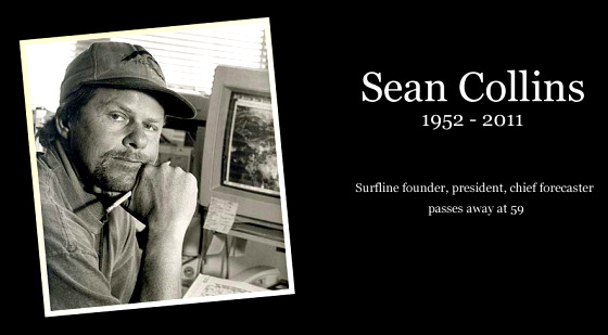 Disparition de Sean Collins, fondateur de Surfline le premier site de surf report
