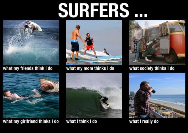 Le décalage entre la représentation du surfeur et la réalité