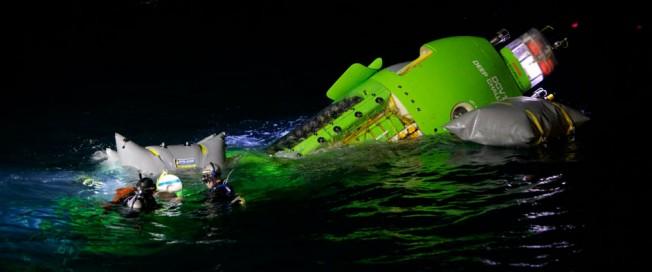 James Cameron touche le fond de l'Océan à bord du Deepsea Challenger