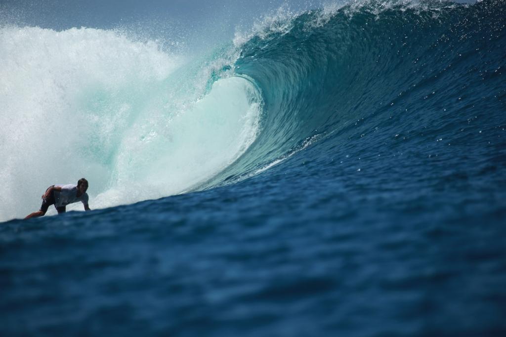 Bac s surfer sur la vague