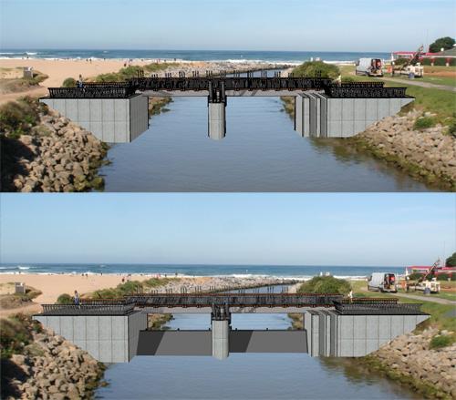 Uhabia (Bidart) : une porte à clapets et un émissaire pour refouler l'eau polluée en mer