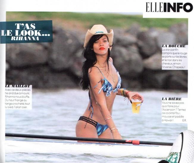 Non, Rihanna n'a rien de «cool» avec sa bière sur son Stand-up Paddle…