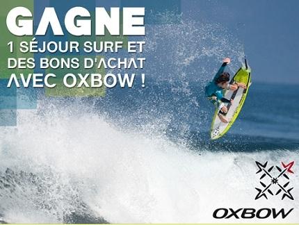 Oxbow propose un jeu-concours pour gagner un week-end surf
