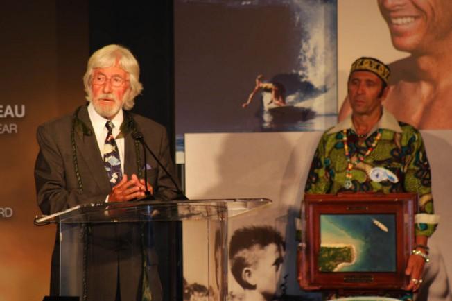 Jean-Michel Cousteau élu environnementaliste de l'année au Waterman's Ball