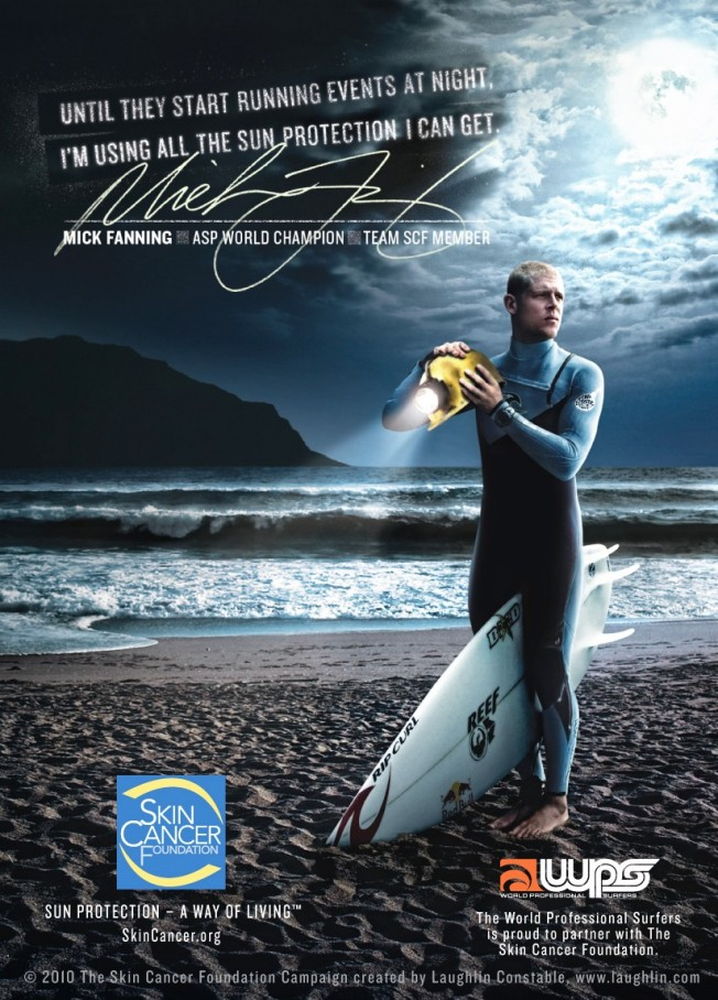 Mick Fanning surfeur engagé dans la Prévention des Cancers