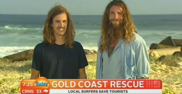 Deux touristes français sauvés de la noyade par des surfeurs australiens