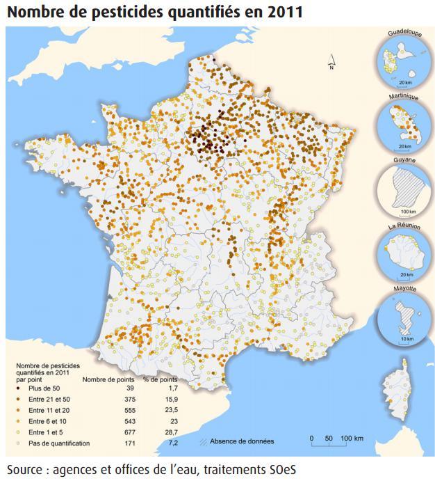 Pesticides: contamination généralisée des cours d'eau en France