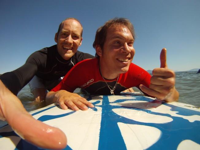 Kinésithérapie avec une Planche de Surf sur le Lac Léman