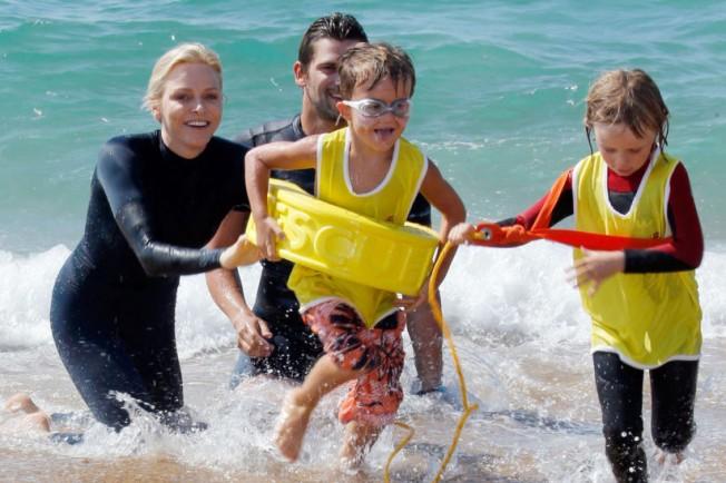 Charlène de Monaco sensibilise à la Sécurité Aquatique à Capbreton